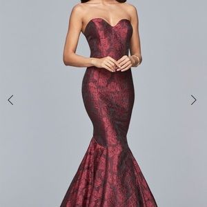 Faviana - Sweetheart Jacquard Mermaid Dress